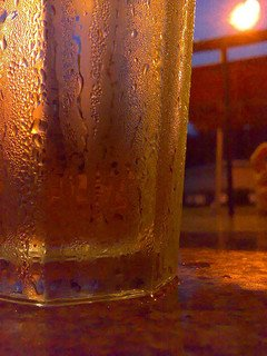 condensation on glass