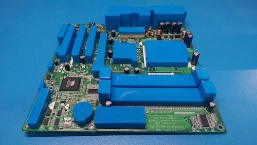 pcb-with-masking-tape-for-conformal-coating